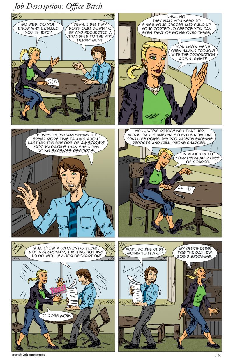 Comic 012 Job Description